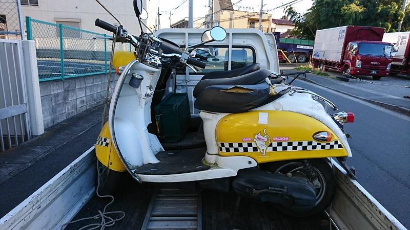 高津区|4年放置バイクの廃車買取、原付の無料処分はもったいない