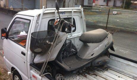川崎区|8年放置バイクの廃車、動かない原付スクーター買取ります