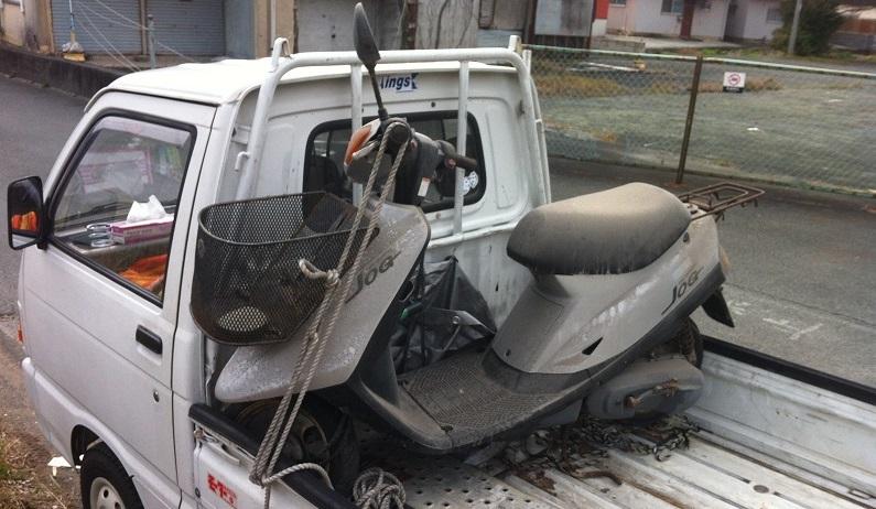 川崎区 8年放置バイクの廃車、動かない原付スクーター買取ります