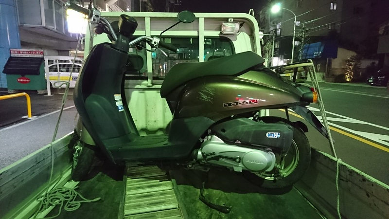 多摩区原付バイクの廃車買取の専門店!動かないスクーターも売れる