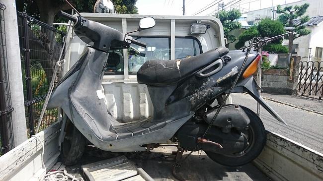 中原区バイク廃車、レッツ